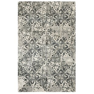 Best Reviews Stone Wall Hand-Tufted Black Area Rug By CompanyC