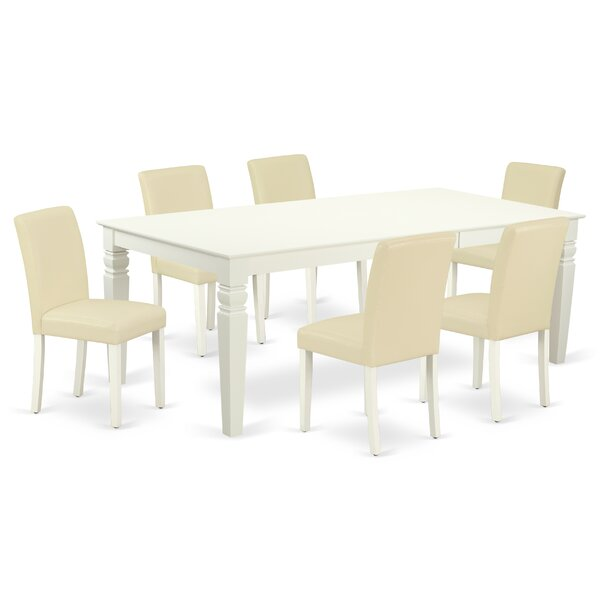 Bertradis 7 Piece Extendable Solid Wood Dining Set by Winston Porter Winston Porter