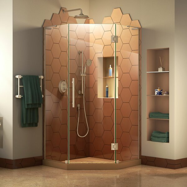 Prism Plus 36 in. D x 36 in. W x 72 in. H Frameless Hinged Shower Enclosure by DreamLine