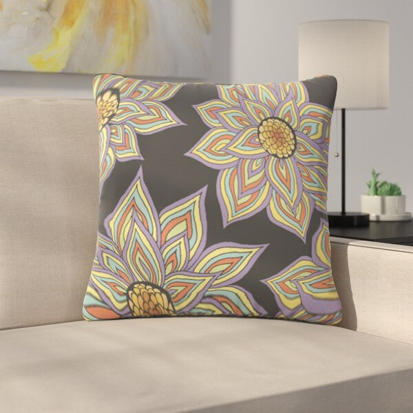 Floral Rhythm by Pom Graphic Design Outdoor Throw Pillow by East Urban Home