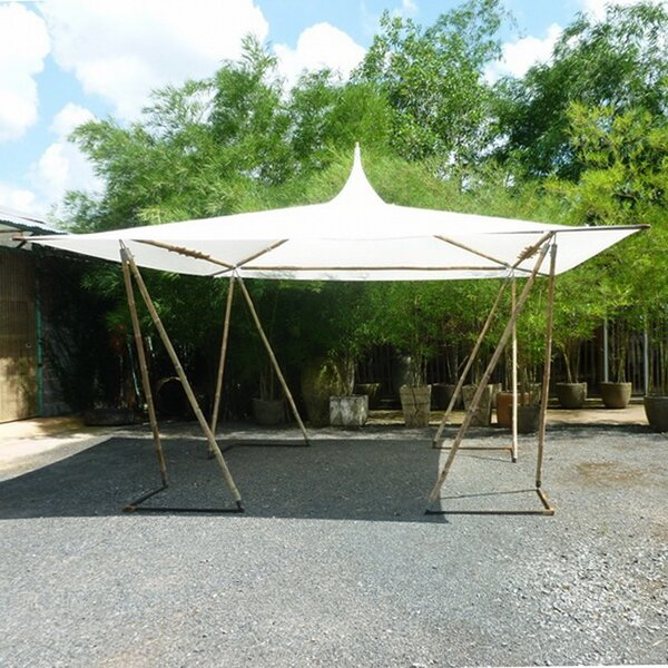 15.5 Ft. W x 15.5 Ft. D Bamboo Party Tent by ZEW Inc