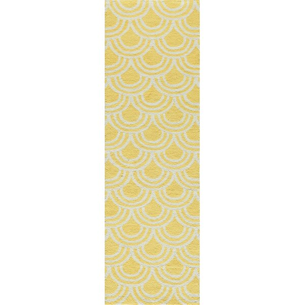 Trent Hand-Hooked Yellow Area Rug by Wrought Studio