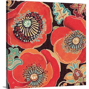 Moroccan Red V by Daphne Brissonnet Graphic Art on Wrapped Canvas by Great Big Canvas