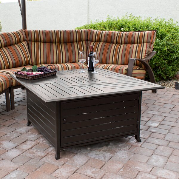 Stainless Steel Propane Fire Pit Table by AZ Patio Heaters