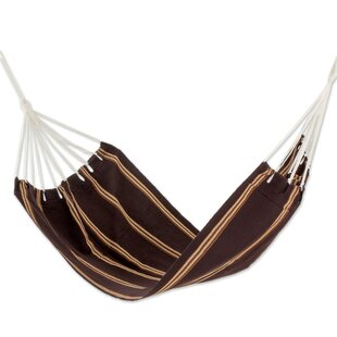 Sandy Path Hand-Woven Single Tree Hammock By Novica
