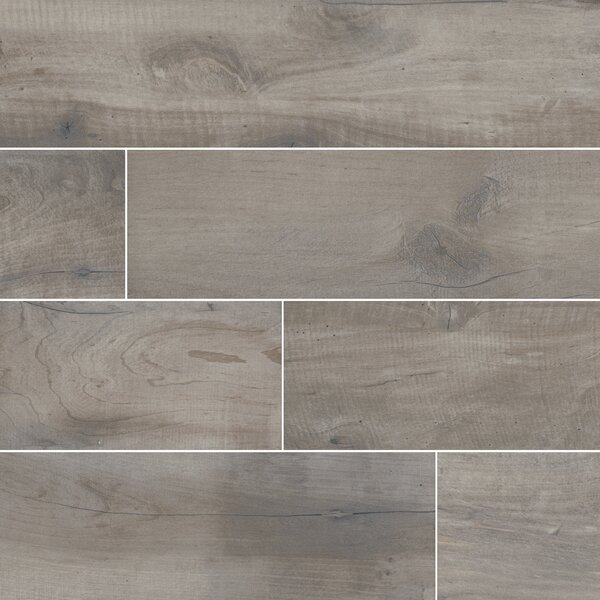 Country River 6 x 36 Porcelain Wood Tile in Stone by MSI
