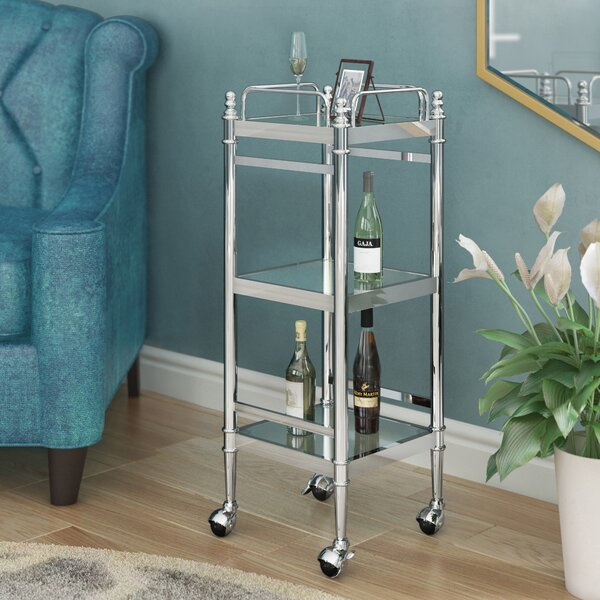 Westra Chrome Bar Cart by Willa Arlo Interiors