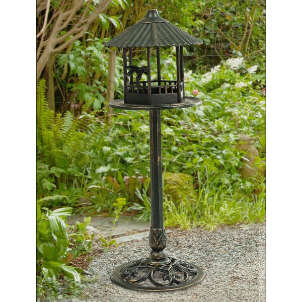Aluminum & Steel Tray Bird Feeder by Sunjoy
