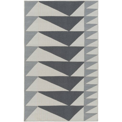 Haveman Charcoal/Light Gray Area Rug by Brayden Studio