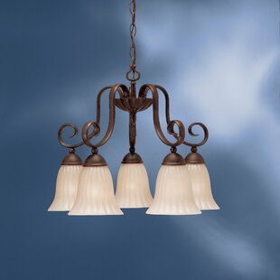 Bafford 5-Light Shaded Chandelier by Darby Home Co