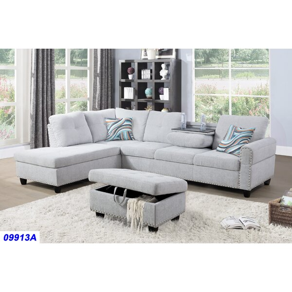 Sciortino Sectional with Ottoman by Charlton Home