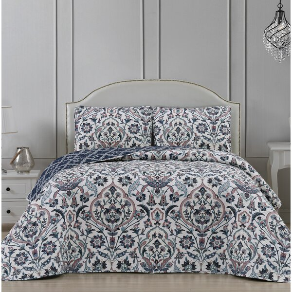 Tierra 3 Piece Reversible Quilt Set by Charlton Home