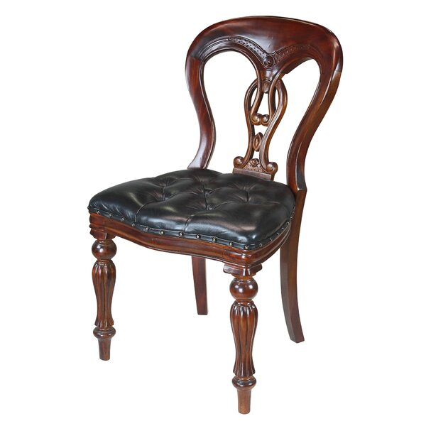 Simsbury Manor Leather Side Chair by Design Toscano