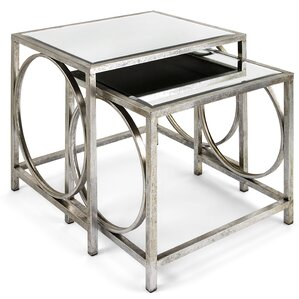 Sepulveda Mirror 2 Piece Nesting Tables by Willa Arlo Interiors