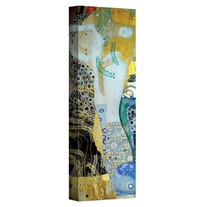 ''Water Serpents Blonde'' by Gustav Klimt Painting Print on Canvas by ArtWall