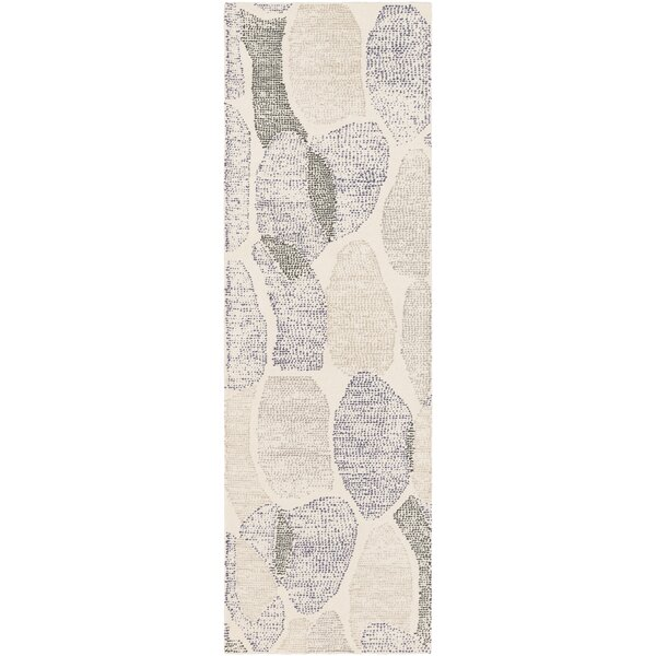 Brooker Hand-Tufted Neutral/Blue Area Rug by Latitude Run