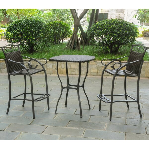 Stapleton 3 Piece Bar Height Dining Set by Charlton Home