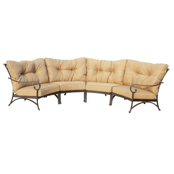 Carlitos Crescent Patio Sectional with Cushions by Darby Home Co