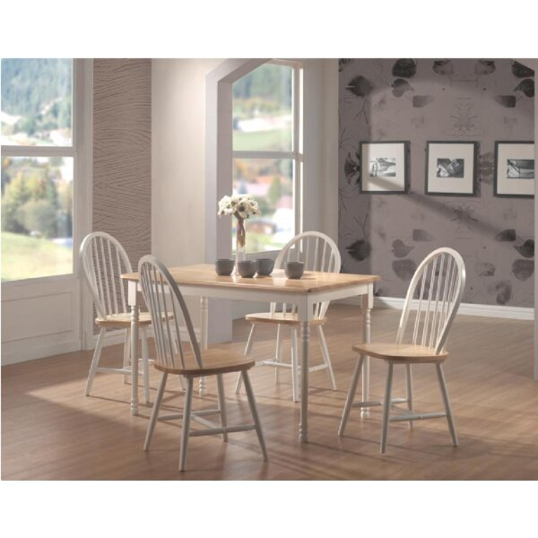 Orson 5 Piece Drop Leaf Breakfast Nook Dining Set by August Grove