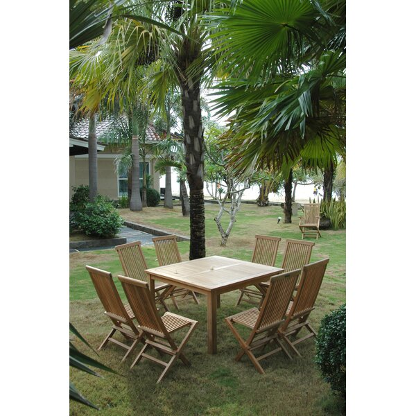 Bourassa 7 Piece Teak Dining Set by Freeport Park