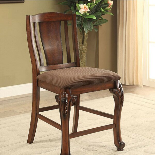 Damiansville Traditional Counter Dining Chair (Set of 2) by Fleur De Lis Living