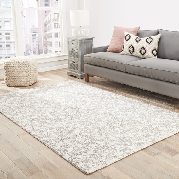 Dylan Hand-Tufted Ivory/Taupe Area Rug by Ophelia & Co.