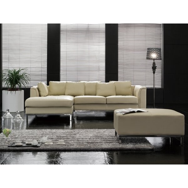 Tachani Leather Sectional by Orren Ellis