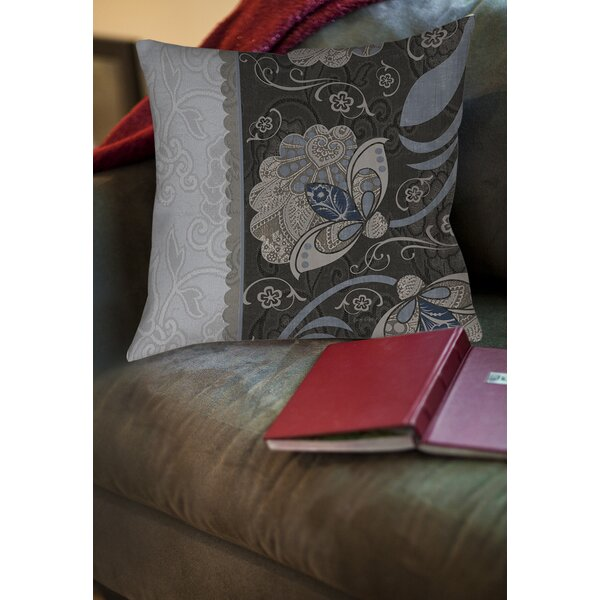 Elegante 4 Printed Throw Pillow by Manual Woodworkers & Weavers