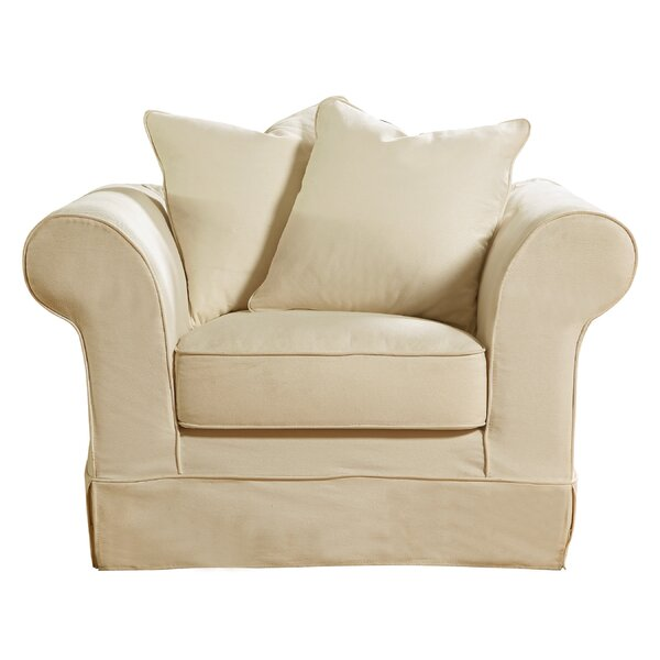 Milla Slipcover Armchair by Highland Dunes
