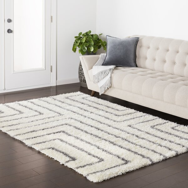 Red Hills Geometric Cream/Gray Area Rug by Trent Austin Design