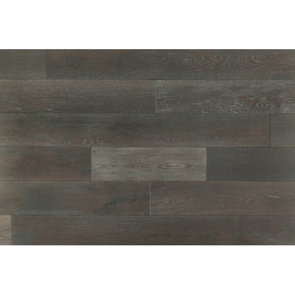 Caves 7-1/4 Engineered Oak Hardwood Flooring in Phoenix Gray by Brayden Studio