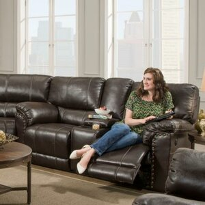 Simmons Upholstery Fisher Motion Console Reclining Sofa by Alcott Hill