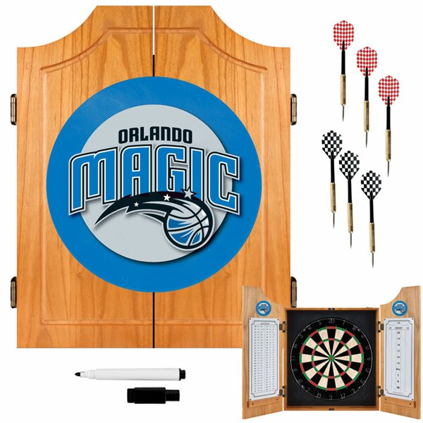 NBA Wood Dart Cabinet Set by Trademark Global