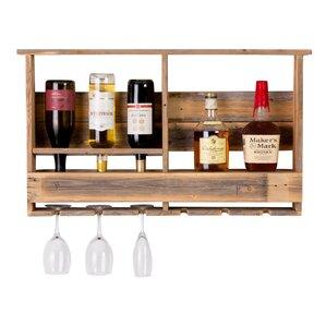 West Covina Wall Mounted Wine Bottle Rack by Loon Peak