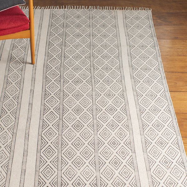 Dunkirk Handmade Off White Area Rug by Laurel Foundry Modern Farmhouse