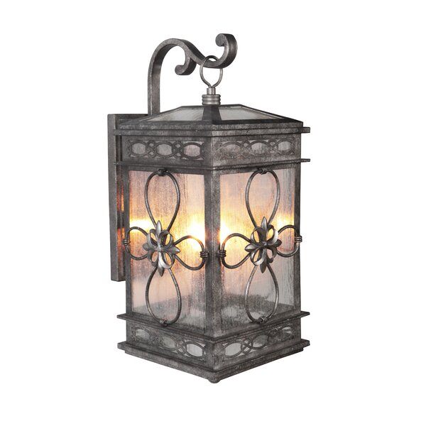 Caddy Traditional 2-Light Outdoor Wall Lantern by August Grove