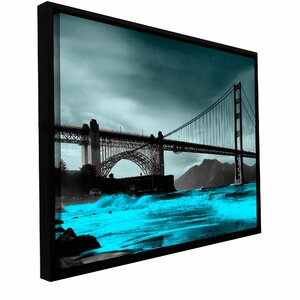 'San Fransisco Bridge II' by Revolver Ocelot Framed Photographic Print on Wrapped Canvas by ArtWall