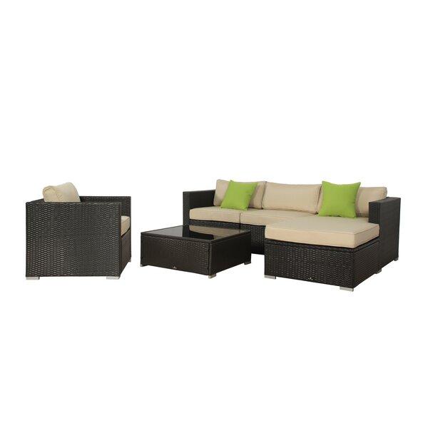 Milliron 6 Piece Rattan Sectional Set with Cushion by Brayden Studio