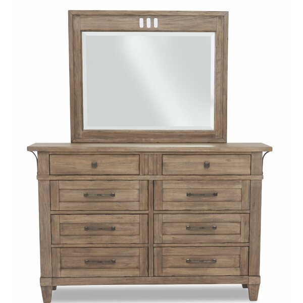 Ariel 8 Drawers Double Dressor with Mirror by Gracie Oaks