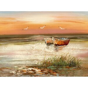 Florida Sunset Painting Print on Wrapped Canvas by Alcott Hill
