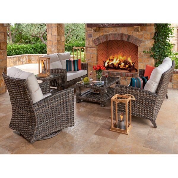 Lexington Sunbrella Seating Group with Sunbrella Cushions by Highland Dunes