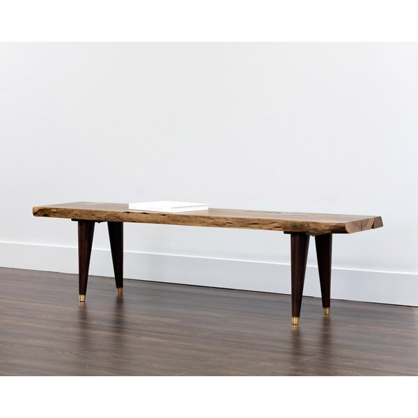 Atlas Wood Bench by Sunpan Modern