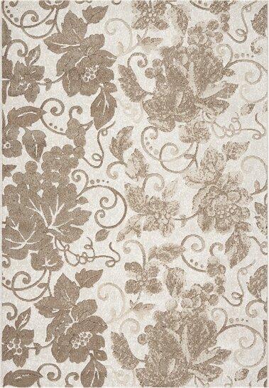 Lower Shockerwick Ivory Flowers Area Rug by Winston Porter