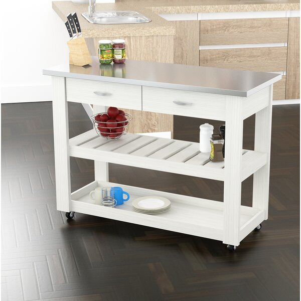 Maglione Stainless Steel Kitchen Cart by Charlton Home