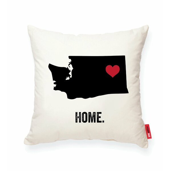Pettry Washington Cotton Throw Pillow by Wrought Studio