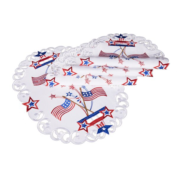 Star Spangled Embroidered Cutwork Placemat (Set of 4) by The Holiday Aisle