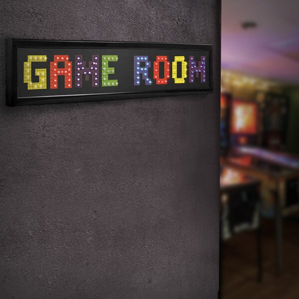 Framed Game Room LED Marquee Sign by Crystal Art G