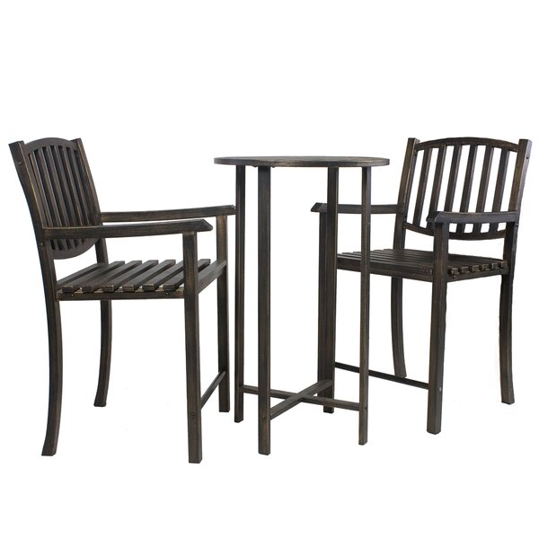 Keanu Balcony Height 3 Piece Bistro Set by Millwood Pines