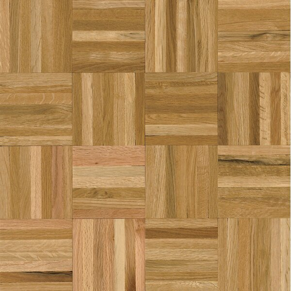 Millwork 12 Solid Oak Parquet Hardwood Flooring in Natural by Armstrong Flooring
