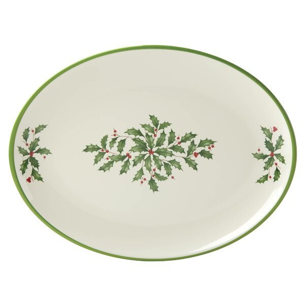 Holiday Melamine Oval Platter by Lenox